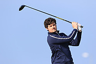 TJ Ford on the 1st tee during Round 4 of The West of Ireland Open Championship in Co. Sligo Golf Club, Rosses Point, Sligo on Sunday 7th April 2019.<br /> Picture:  Thos Caffrey / www.golffile.ie