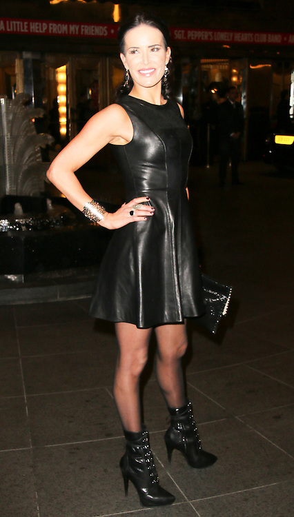 © London News Pictures. Sophie Anderton attends the Exhibition of exclusive photographs of Kate Moss at The Savoy, London UK, 30 January 2014, Photo credit: Richard Goldschmidt/LNP