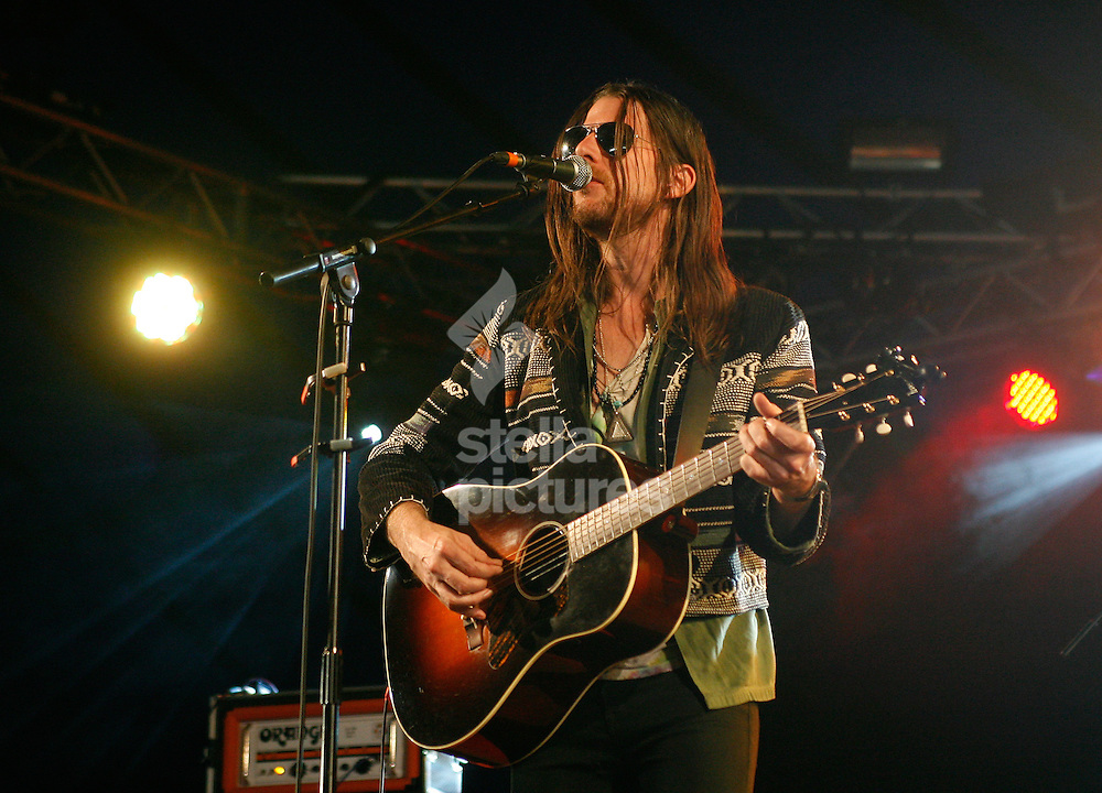 Picture by Daniel Chesterton/Stella Pictures. .15/07/12.Johnathan Wilson performs at Latitude, a music and arts festival in Suffolk..