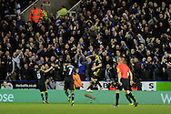 Chelsea's Frank Lampard  © celebrates after he scores 2nd  goal. Barclays Premier league, Reading v Chelsea at the Madejski Stadium in Reading on Wednesday 30th Jan 2013. pic by Andrew Orchard, Andrew Orchard sports photography,