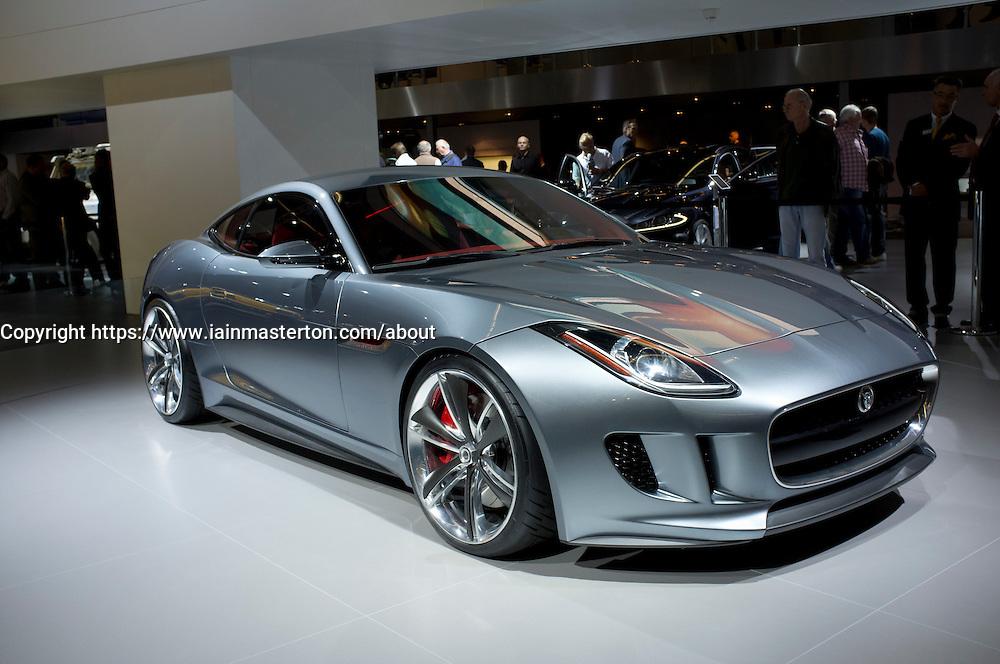 Jaguar concept hybrid C-X16 car at Frankfurt Motor Show or IAA 2011 in Germany