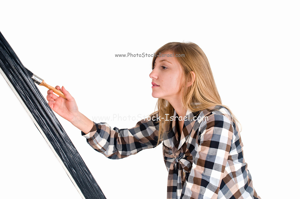 young artist On white Background