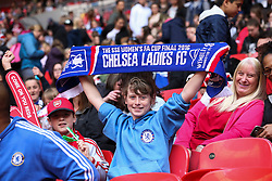 Chelsea Ladies FC fans - Mandatory byline: Jason Brown/JMP - 14/05/2016 - FOOTBALL - Wembley Stadium - London, England - Arsenal Ladies v Chelsea Ladies - SSE Women's FA Cup