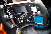 steering wheel detail<br /> <br /> 65th Macau Grand Prix. 14-18.11.2018.<br /> Suncity Group Formula 3 Macau Grand Prix - FIA F3 World Cup<br /> Macau Copyright Free Image for editorial use only