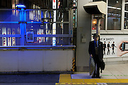 Blue lights installed at all 29 JR Yamanote Line stations for a cost of 15 million Yen (165,000 USD) in an effort to decrease suicides by people jumping under trains. Over 2,000 people jumped under trains in 2008, accounting for 6% of all suicides in the country. The blue LED lights are meant to calm and soothe potential jumpers, though there is little scientific evidence for this. Japan has one of the highest suicide rates in the world which the recent economic crisis has exacerbated. Shibuya Station, Tokyo, Japan December 4th 2009