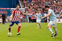 Atletico de Madrid's Juanfran and Celta de Vigo's Planas during La Liga Match at Vicente Calderon Stadium in Madrid. May 14, 2016. (ALTERPHOTOS/BorjaB.Hojas)