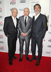 AFI Fest 2018 world premiere screening of The Kominsky Method at the TCL Chinese Theater in Hollywood,California on November 10, 2018, CAP/MPIFS ©MPIFS/Capital Pictures. 10 Nov 2018 Pictured: Michael Douglas, Alan Arkin, Chuck Lorre. Photo credit: MPIFS/Capital Pictures / MEGA TheMegaAgency.com +1 888 505 6342