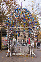 Decorative Metro station entrance in Paris France
