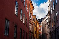 Buildings in Gamla stan - Street scenes from Stockholm