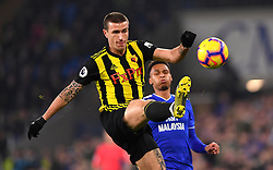 Watford's Daryl Janmaat in actionduring the Premier League match at the Cardiff City Stadium.