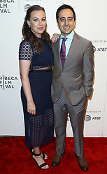 Comedian Amir Talai (R) and wife Nina attend 'The Circle' screening during the 2017 TriBeCa Film Festival at at BMCC Tribeca PAC on April 26, 2017 in New York City. (Photo by Debby Wong/imageSPACE) *** Please Use Credit from Credit Field ***