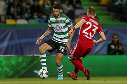 November 22, 2017 - Na - Lisbon, 22/11/2017 - Sporting Clube de Portugal received Olympiacos CF tonight at the Estádio de Alvalade in the match to count for the fifth day of the Champions League 2017/2018. Cristiano Piccini  (Credit Image: © Atlantico Press via ZUMA Wire)