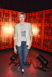 """Lily Cole at """"Hoping For Palestine"""" Benefit Concert For Palestinian Refugee Children held at The Roundhouse, Chalk Farm Road, England. 04 June 2018."""