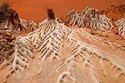 Madagascar, Ankarana Special Reserve. Red Tsingy - Sandstone erosion due to deforestation