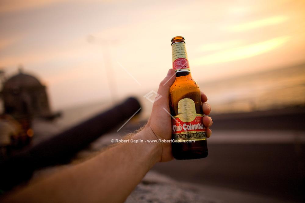 Club Colombia beer in Cartagena, Colombia ..Photo by Robert Caplin..