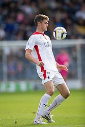Falkirk's Owain Tudor Jones.<br /> Raith Rovers 0 v 0 Falkirk, Scottish Championship game played 27/9/2014 at Raith Rovers Stark Park.