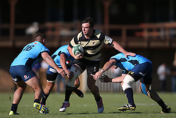 Francois Esterhuyzen of Boland attempts to break the tackle during the Currie Cup premier division match between the Boland Cavaliers and The Blue Bulls held at Boland Stadium, Wellington, South Africa on the 23rd September 2016<br /> <br /> Photo by:   Shaun Roy/ Real Time Images