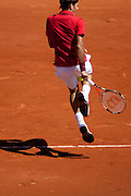 Roland Garros 2011. Paris, France. May 25th 2011..Swiss player Roger FEDERER against Maxime TEIXEIRA