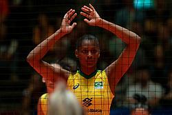 28-05-2019 NED: Volleyball Nations League Netherlands - Brazil, Apeldoorn<br /> <br /> Lorenne Geraldo Teixeira #24 of Brazil
