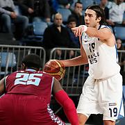 Anadolu Efes's Sasha Vujacıc during their Turkish Basketball League match Anadolu Efes between Trabzonspor at Sinan Erdem Arena in Istanbul, Turkey, Saturday, December 10, 2011. Photo by TURKPIX