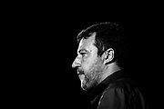 Matteo Salvini. Comizio del centrodestra italiano durante la campagna elettorale per le politiche regionali 2020.  Bari 12 Settembre 2020. Christian Mantuano<br /> <br /> Italian center-right rally during electoral campaign for regional policies 2020. Bari 12 September 2020. Christian Mantuano