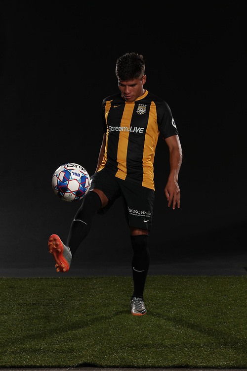 Angelo Kelly (21)<br /> Media Day, Home Kits, Charleston Battery at MUSC Health Stadium in Charleston, S.C. on Tuesday, June 19, 2018.<br /> Zach Bland/Charleston Battery