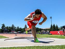 Gong Lijiao, China, wins womens shot put 2019 The Prefontaine Classic Track & Field<br /> IAAF Diamond League