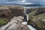 Litlanesfoss waterfall is a beautifull waterfall close to Hengifoss waterfall.