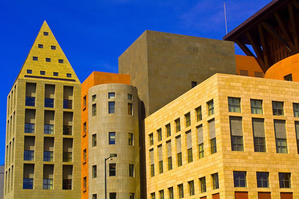 Denver Central Library, Acoma Plaza, Civic Center Cultural Complex, Denver, Colorado USA