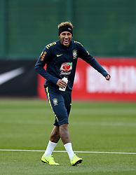 Neymar during the training session at London Colney, Hertfordshire.