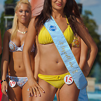 Henrietta Ohanyak winner of the prize for the most beautiful face during the Miss Bikini Hungary beauty contest held in Budapest, Hungary. Sunday, 29. August 2010. ATTILA VOLGYI