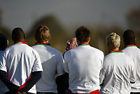 Englands coach Sven-Goran Eriksson looks u to the skies during training for the match against Wales<br /> <br /> Back Page Images - Mobile 07887 794393 - email: jgarcia@nildram.co.ukRY&A