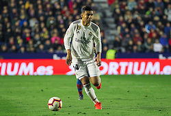 February 24, 2019 - Valencia, Valencia, Spain - Casemiro of Real Madrid  in action during La Liga Spanish championship, football match between Levante and Real Madrid, February 24th, Ciudad de Valencia stadium, in Valencia, Spain. (Credit Image: © AFP7 via ZUMA Wire)