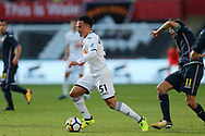 Roque Mesa of Swansea city in action. Swansea city v Sampdoria , pre-season friendly at the Liberty Stadium in Swansea, South Wales on Saturday August 5th 2017.<br /> pic by Andrew Orchard, Andrew Orchard sports photography.