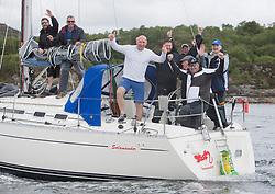 Clyde Cruising Club's Scottish Series 2019<br /> 24th-27th May, Tarbert, Loch Fyne, Scotland<br /> <br /> 3361C, Salamander XXII, Class 5 winner<br /> <br /> Credit: Marc Turner / CCC