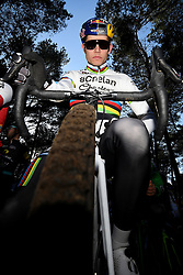 February 10, 2018 - Lille, BELGIUM - Belgian world champion Wout Van Aert pictured at the start of the men's elite race of the Krawatencross cyclocross in Lille, the eighth and last stage in the DVV Verzekeringen Trofee Cyclocross competition, Saturday 10 February 2018. BELGA PHOTO DAVID STOCKMAN (Credit Image: © David Stockman/Belga via ZUMA Press)