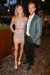 Bella Buchanan and Miles Bugby at the Aspall Tennis Classic Players Party hosted by Aspall and Taylor Morris Eyewear at Bluebird, 350 King's Road, Chelsea, London England. 28 June 2017.