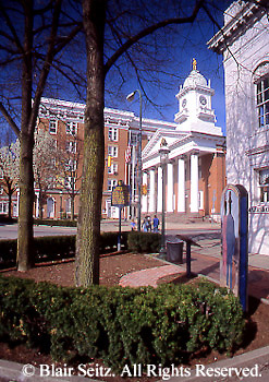 PA Historic Places, Franklin Co. Courthouse, City Square, Chambersburg, PA