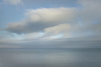 Clouds and fog over Bay of Fundy New Brunswick