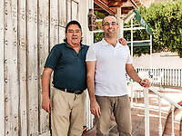 Umberto & Father, proprietors, Don Canuto's, Restaurant, Guadalmina, San Pedro de Alcantara, Malaga Province, Spain, October, 2016, 201610052828<br />