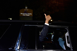 Bill Cosby gives a thumbs up as he departs Montgomery Courthouse after the fifth day of jury deliberations in the aggravated indecent assault trail, in Norristown, Pennsylvania, on June 16, 2017.