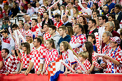 Supporters of Croatia during handball match between National teams of Croatia and France on Day 7 in Main Round of Men's EHF EURO 2018, on January 24, 2018 in Arena Zagreb, Zagreb, Croatia.  Photo by Vid Ponikvar / Sportida