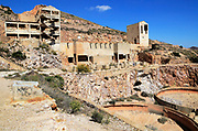 Old gold mine buildings, Rodalquilar, Cabo de Gata natural park, Almeria, Spain