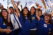 Israel, Ben-Gurion Airport, New immigrants from USA Arrive in Israel and receive a warm welcome from Israeli youth