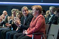 23 NOV 2018, BERLIN/GERMANY:<br /> Ingo Kramer (Mi-L), Praesident Bundesvereinigung der Deutschen Arbeitgeberverbaende, und Angela Merkel (mi-R), CDU, Bundeskanzlerin, Deutscher Arbeitgebertag 2018, Vereinigung Deutscher Arbeitgeber, BDA, Estrell Convention Center<br /> IMAGE: 20181123-01-169