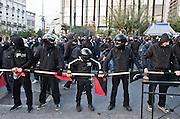 The Anarchist fringe of the 17th Nov demonstration