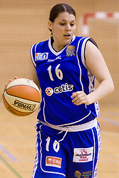 Anja Klavzar of Merkur at 4th final match of Slovenian women basketball 1st league between Hit Kranjska Gora and ZKK Merkur Celje, on May 13, 2010, in Arena Vitranc, Kranjska Gora, Slovenia. Celje defeated Kr. Gora 71-60 and the result after 4th match is 2-2. (Photo by Vid Ponikvar / Sportida)