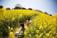 Heeki Park, Haruka Sanada, Keiko Iwaasa, Namiki Kikkawa, Noriko Fukushige, Etsuko Morinaga, Miyuki Matsuguma at Nokonoshima, Fukuoka - Japan