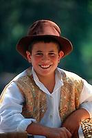 Portuguese boy in native costume, Queluz (near Lisbon), Portugal