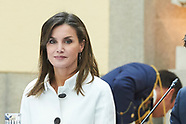 060118 Spanish Royals attends a meeting with the members of the Patronages of Princess of Asturias